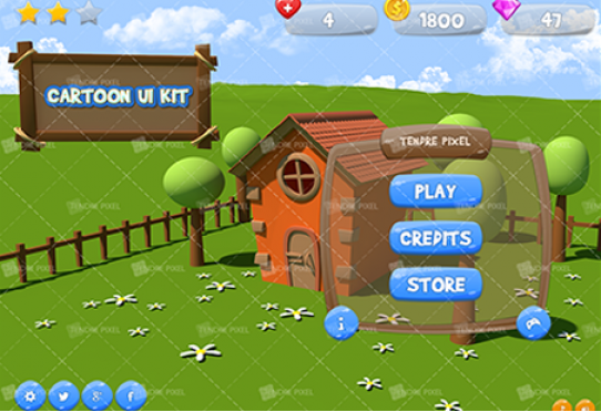 Cartoon Game UI Kit